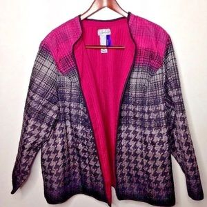 Catherines quilted jacket blazer 3xl /26 Petite
